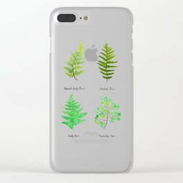 fern collection watercolor Clear iPhone Case