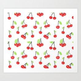 Cherries series Art Print