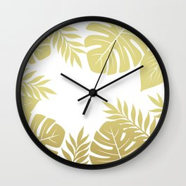 Paradise in Gold Wall Clock