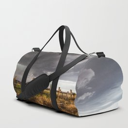 Western Life - Barbed Wire and Storm on the Ranch Duffle Bag