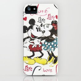 Mickey and Minnie in love iPhone Case