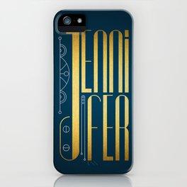 Jennifer iPhone Case