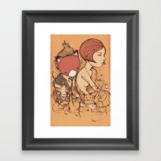 Leaves falling Framed Art Print