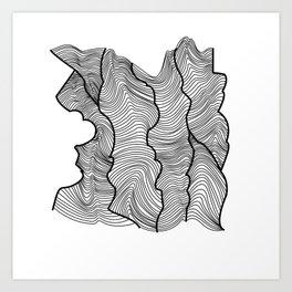 Contour Lines Art Print