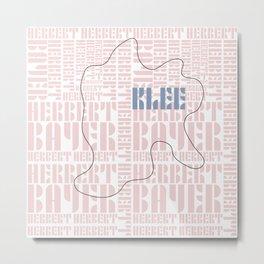 Paul Klee Bauhaus Type Art Metal Print