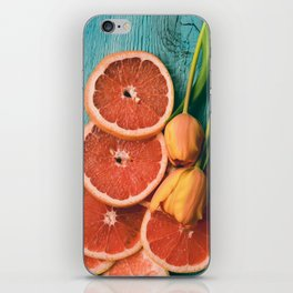Grapefruit and Tulips iPhone Skin