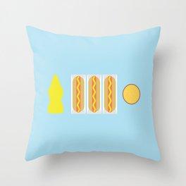 Mustard Meal Throw Pillow