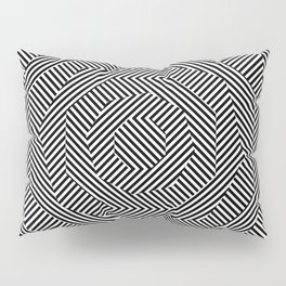 octagon, black-and-white hatched Pillow Sham