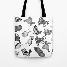 Sea Animals Pattern Tote Bag