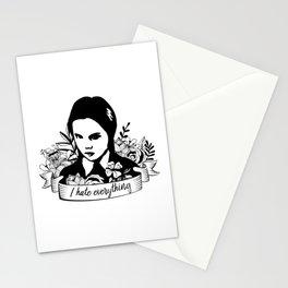 Wednesday Addams - I Hate Everything Stationery Cards