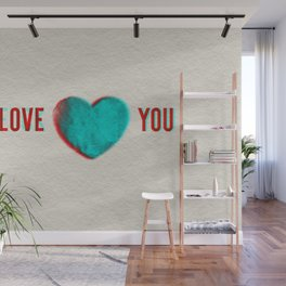 Dueling Hearts 3D Anaglyph Wall Mural