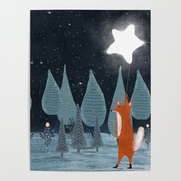 the star balloon Poster