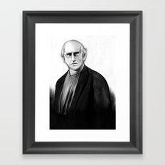 DARK COMEDIANS: Larry David Framed Art Print