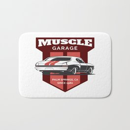 Muscle Car Garage Bath Mat