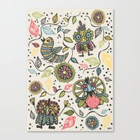 woodland Canvas Prints featuring Woodland by Sarah Doherty