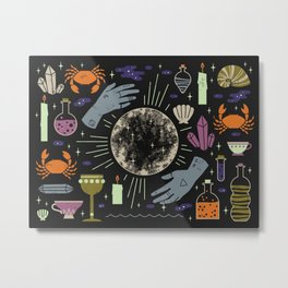 Spooky Horoscopes: Cancer Metal Print