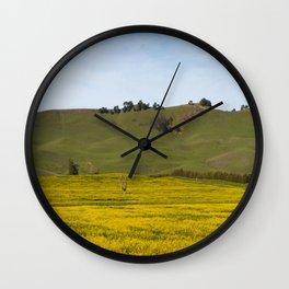 Mustard Fields Wall Clock