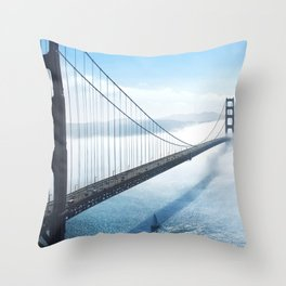 Golden Gate Bridge in the Clouds Throw Pillow