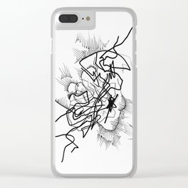 Crackle Pop Clear iPhone Case