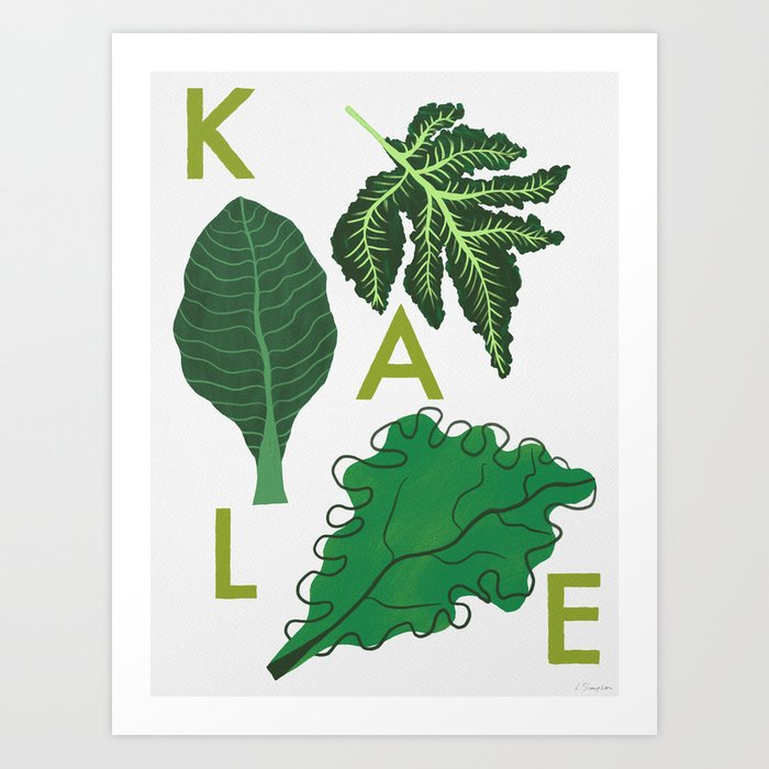Eat Your Veggies - Kale Kunstdrucke