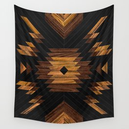 Urban Tribal Pattern No.7 - Aztec - Wood Wall Tapestry