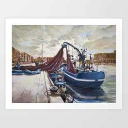 Fishing 2 Art Print