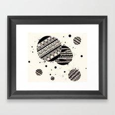 Pattern Doodle One Framed Art Print