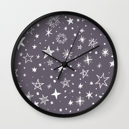Multiple shapes and sizes stars II Wall Clock