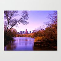 central park Canvas Prints featuring Central Park by Anna Andretta