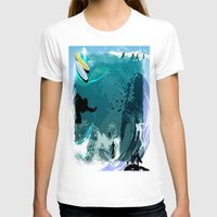 surfing T-shirts featuring Surfing by Robin Curtiss
