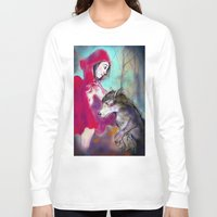 red hood Long Sleeve T-shirts featuring red hood by AliluLera