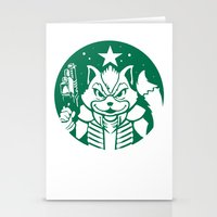 starfox Stationery Cards featuring Starfox Coffee by Jimiyo