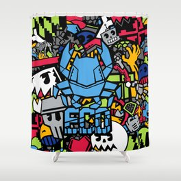 Beast Coast Dyes  Shower Curtain