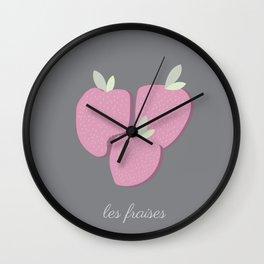 Le Fraises Wall Clock