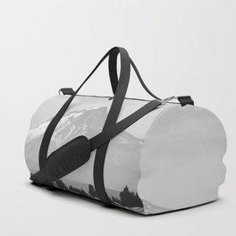 Desert Mountain Black and White Duffle Bag