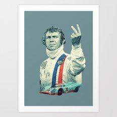McQueen Le Mans Art Print