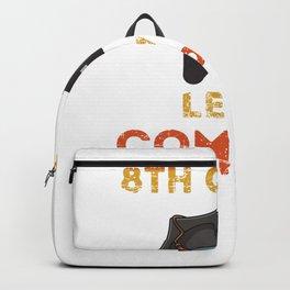 2020 8th Grade Graduation Gamer Graduation Gifts | Vintage Graduation Gift | 8th Grade level complete Backpack