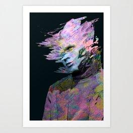 Afraid Of My Brain Art Print