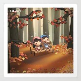 Just You & Me (Fall) Art Print