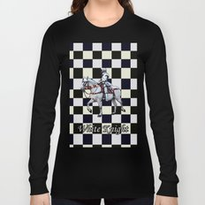 Knight on white horse with Chess board Long Sleeve T-shirt