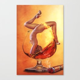 Girl in Glass Canvas Print