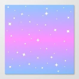 Magical Girl Stars Canvas Print