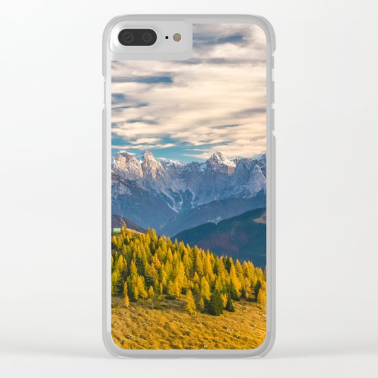Austrian Alps Clear iPhone Case