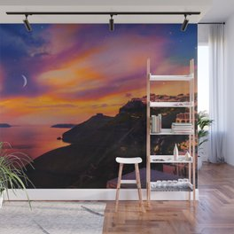 Santorini,Fira,Sunset Wall Mural