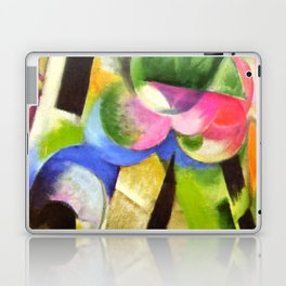 "Franz Marc ""Small Composition II also known as House with Trees) (Haus mit Bäumen) Laptop & iPad Skin"