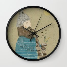 afternoon blues Wall Clock