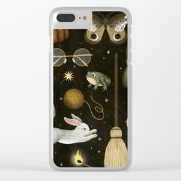 october nights Clear iPhone Case