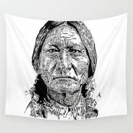 Sitting Bull Portrait Wall Tapestry