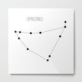 Zodiac: Capricorn (White) Metal Print