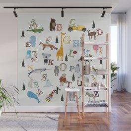 little nature alphabet Wall Mural